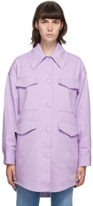 MM6 MAISON MARGIELA Purple Oversized Shirt Coat