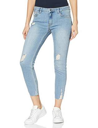 Cross Women's Gigi Skinny Jeans, (Light Blue Destroyed 006), W29