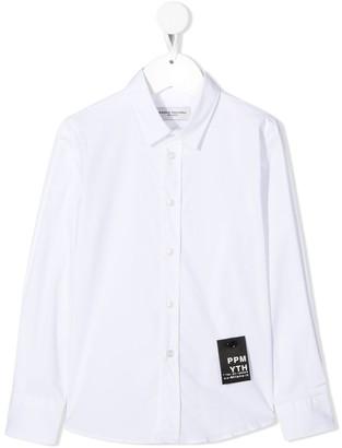 Paolo Pecora Kids Logo Patch Button-Down Shirt
