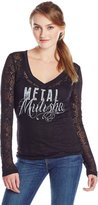 Metal Mulisha Women's Ambition Burnout Long Sleeve Top