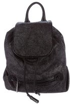 Halston Embossed Leather Backpack