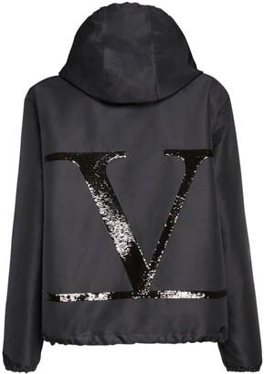 Valentino Go Logo Sequined Nylon Jacket