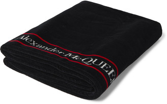 Alexander McQueen Logo-Print Cotton-Terry Beach Towel