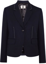 Topshop Hutton Wool-twill Blazer - Navy