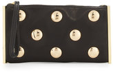 Cynthia Rowley Luna Studded Leather Evening Clutch Bag, Black