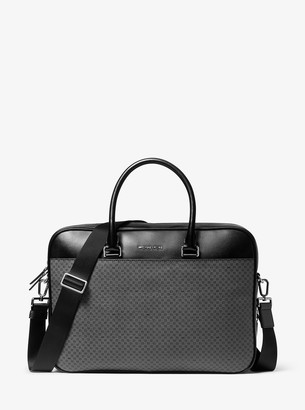 Michael Kors Henry Printed Coated Canvas Briefcase
