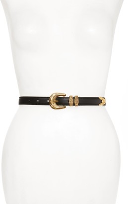 Versace Baroque Leather Western Belt