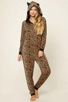Forever 21 FOREVER 21+ Leopard Print PJ Jumpsuit