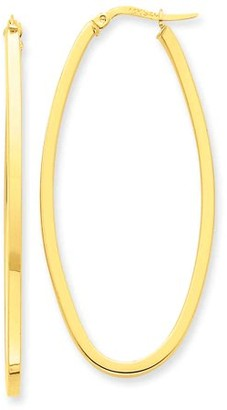 Generic 14k 2mm Large Oval Hoop Earrings