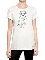 Dog Print Cotton Jersey T-Shirt