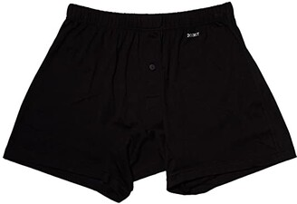 2xist Pima Knit Boxer (Black New Logo) Men's Underwear
