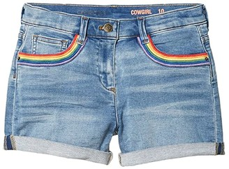 crewcuts by J.Crew Embroidered Denim Shorts (Toddler/Little Kids/Big Kids) (Sasha Wash) Girl's Shorts