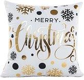 Pillowcases,Han Shi Print Sofa Cushion Cover Cases Home Decor Soft Zipper Square Pillowslips Covers (D, White)