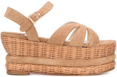 Paloma Barceló wicker heel sandals - women - Calf Leather/Leather/Suede - 35