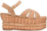 Paloma Barceló wicker heel sandals