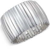 Charter Club Silver-Tone Bar Stretch Bracelet, Only at Macy's
