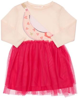 Billieblush Jersey & Tulle Dress