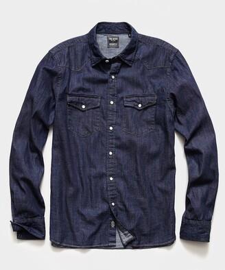 Todd Snyder Italian Indigo Western Shirt
