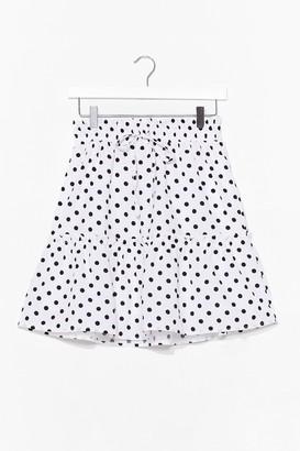 Nasty Gal Womens You've Polka Dot Moves Tiered Mini Skirt - White
