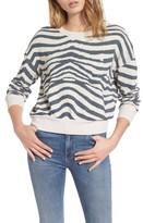 Splendid Women's Zebra Print Sweatshirt