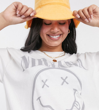 Daisy Street Plus relaxed t-shirt with Nirvana print