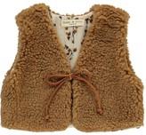 Babe & Tess Faux Fur Cardigan