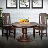 Ophelia Felecia Mango Solid Wood Dining Table & Co. Base Color: Light Rustic Medium Brown, Top Color: Light Rustic Medium Brown