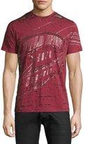 Diesel Wild Spirit Distressed Graphic T-Shirt, Red