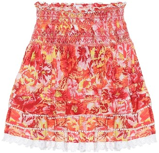 Poupette St Barth Exclusive to Mytheresa Tiered printed miniskirt