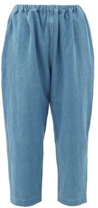 LAUREN MANOOGIAN High-rise Cropped Jeans - Womens - Light Blue