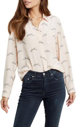 Rails Kate Cheetah-Print Button-Down Silk Shirt