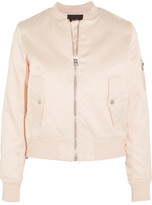 Maje Bart Satin Bomber Jacket - Pastel pink