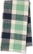 Pehr Designs Slubby Cotton Tea Towel in Indigo & Grass