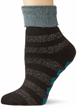 Burlington Women's Xmas Stripe Slipper Socks