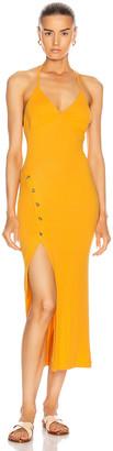Alix Pierce Dress in Marigold | FWRD