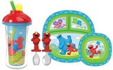 Munchkin Sesame Street 9 Ounce Click Lock Insulated Straw Cup with Toddler Di...