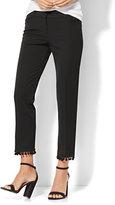 New York & Co. 7th Avenue Pant - Ankle - Modern - Pom Pom-Trim - Black