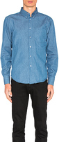 Naked & Famous Denim Regular Button Down in Blue. - size S (also in )
