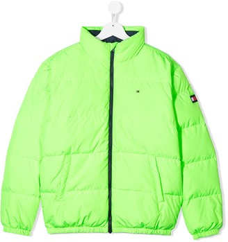 Tommy Hilfiger Junior TEEN zipped padded coat