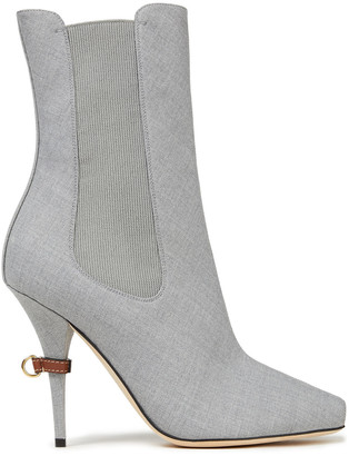 Burberry Wool-blend Twill Ankle Boots