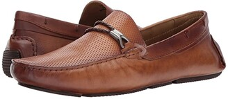 Massimo Matteo Perf Vamp Rope Bit (Tan) Men's Slip-on Dress Shoes
