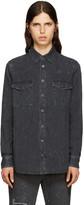 Givenchy Grey Distressed Denim Shirt