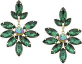 1928 Jewelry 1928 Green Gold-Tone Marquise Statement Earrings