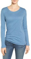 Caslon Long Sleeve Slub Knit Tee (Regular & Petite)