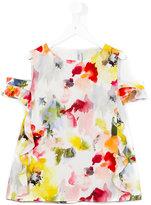 Simonetta floral print blouse - kids - Polyester - 14 yrs