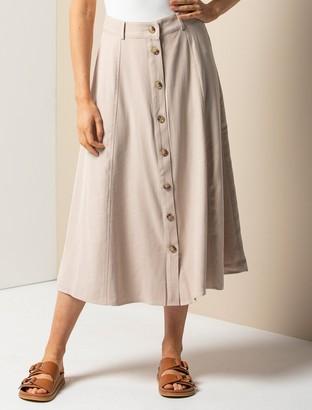 Forever New Blair Button-Front Midi Skirt - Colour TBC 1 - 10