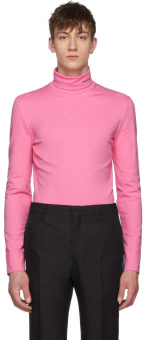 Calvin Klein Pink Logo Turtleneck