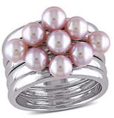 Concerto 4.5-5mm Pink Pearl Stacking Ring Set