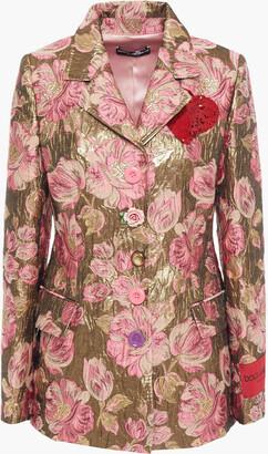 Dolce & Gabbana Appliqued Metallic Brocade Blazer