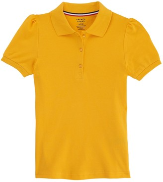 French Toast Girls 4-20 & Plus Size School Uniform Stretch Pique Polo Shirt